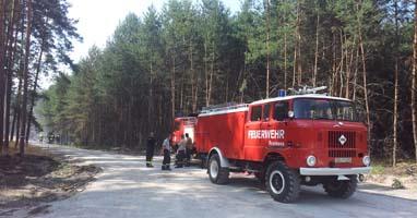 Feuerwehr im Einsatz nahe Ölsig